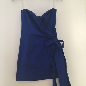 Blue mini cocktail dress.